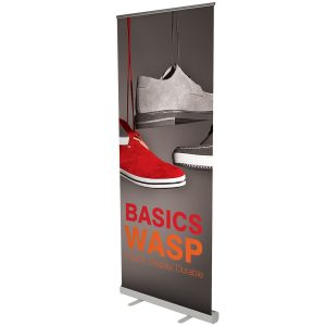 Pop up Banner Stands printed in full colour on super-flat media to reduce edge curling