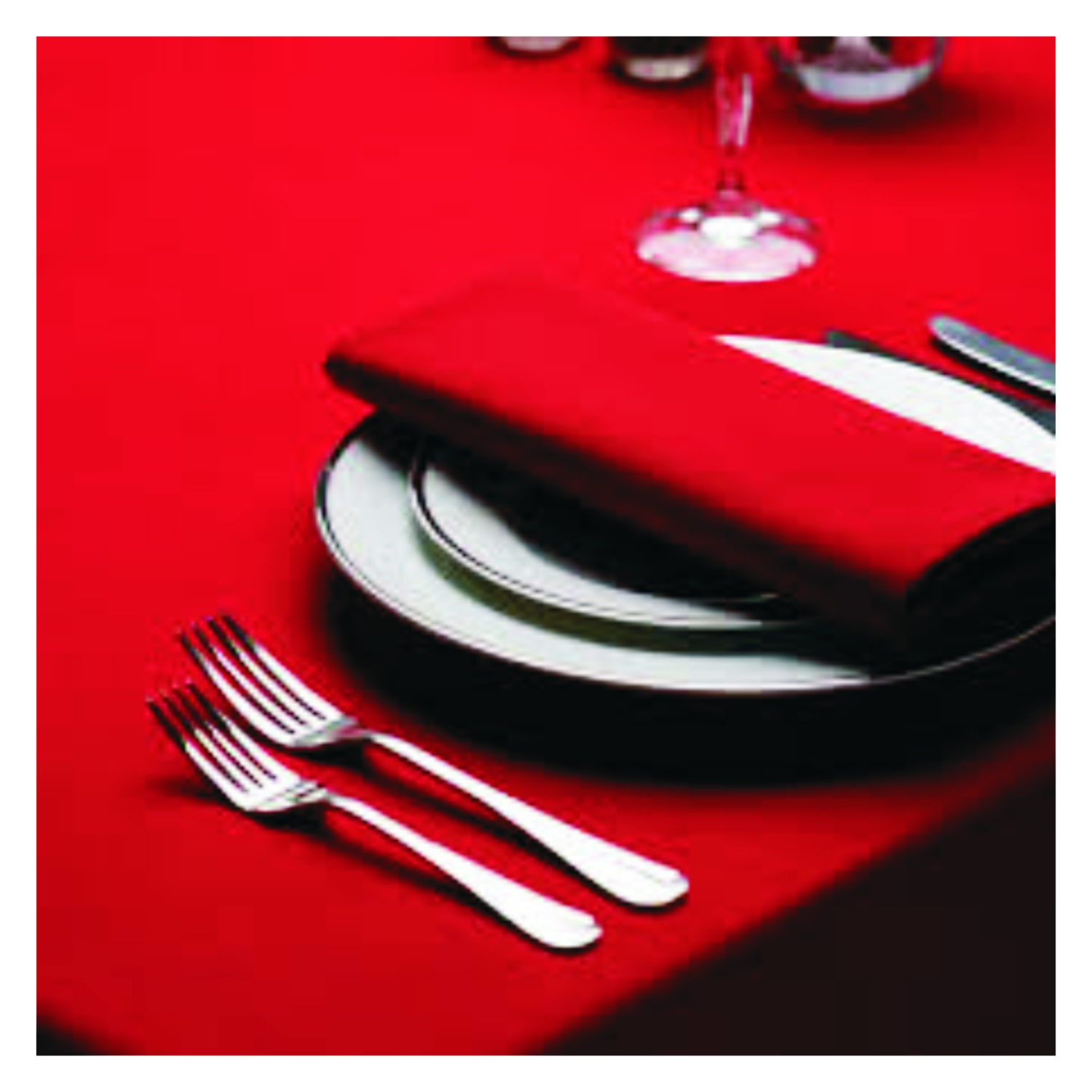 Table Napkins with Branded Logos and Text.