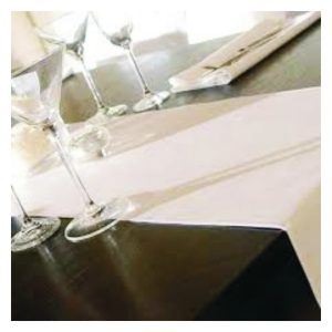 Table Runners with Branded Logos and Text.