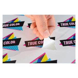 Custom Shape Stickers & Labels with Branded Logos and Text.