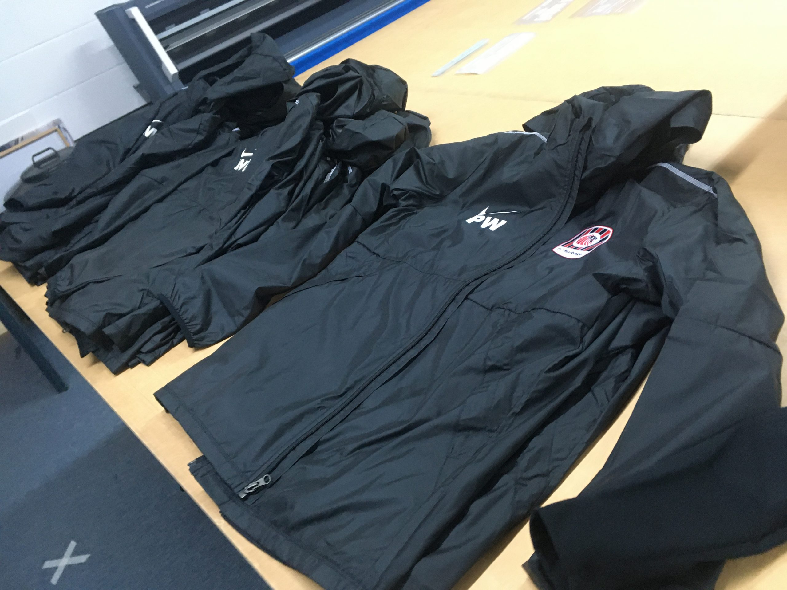 FC Burbage Embroidered Rain Jackets