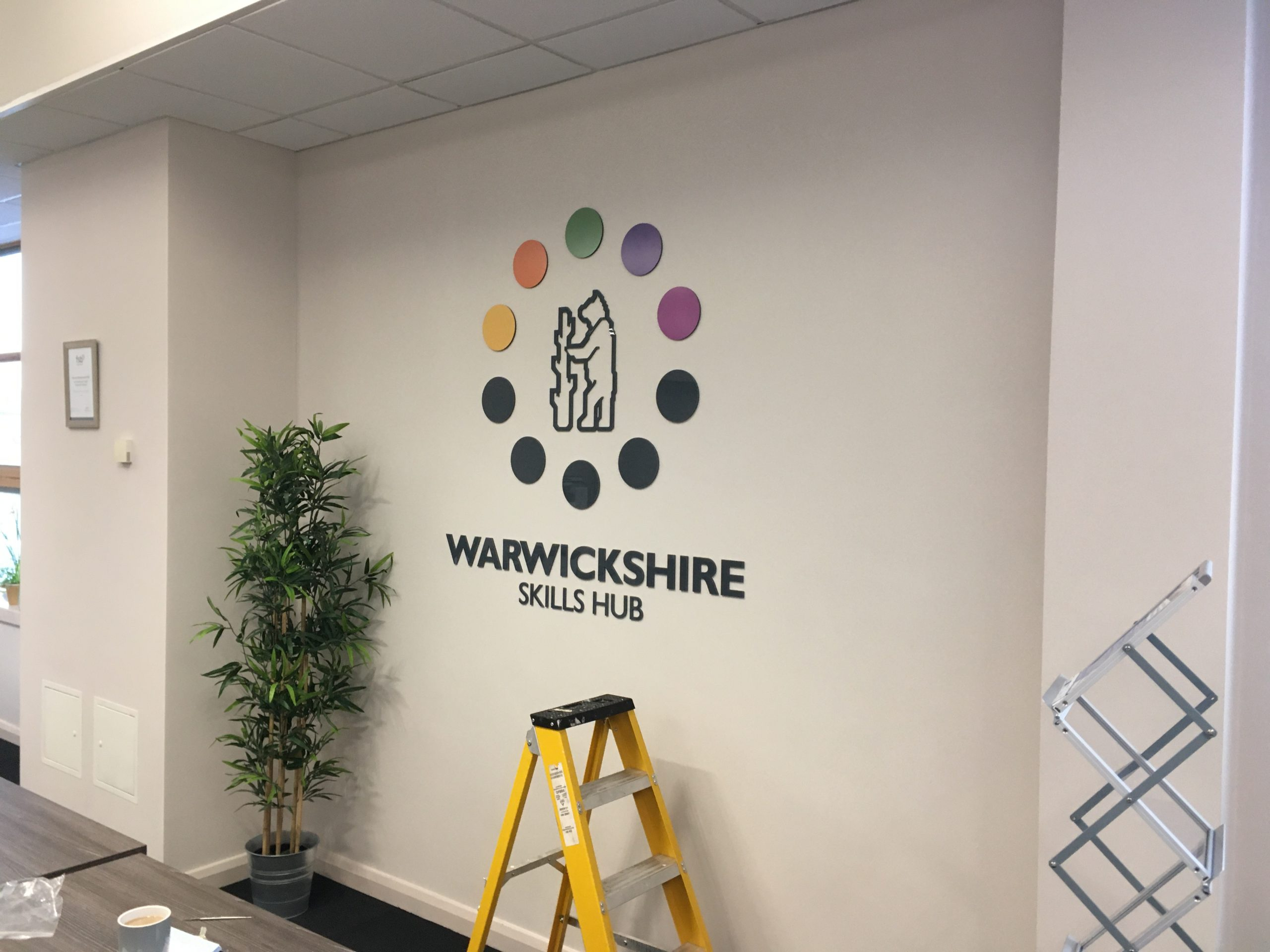 Raised Characters for Corporate Wall Logo